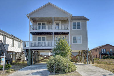 North Topsail Beach, Surf City, Topsail Beach Single Family Home For Sale: 1312 N New River Drive