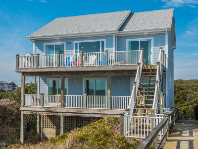 Topsail Beach Single Family Home For Sale: 827 N Anderson Boulevard