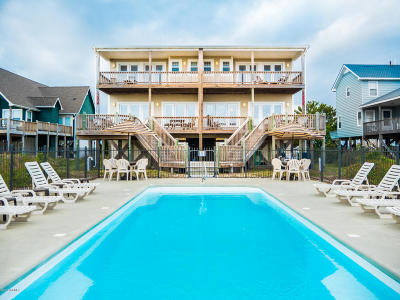 Holden Beach Single Family Home For Sale: 1295 Ocean Boulevard W #A&B