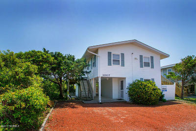 Oak Island Single Family Home For Sale: 3007 W Beach Drive
