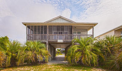 Oak Island Single Family Home For Sale: 1422 E Beach Drive