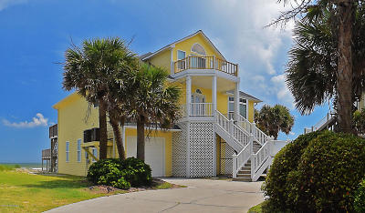 North Topsail Beach, Surf City (onslow) Single Family Home For Sale: 1070 New River Inlet Road