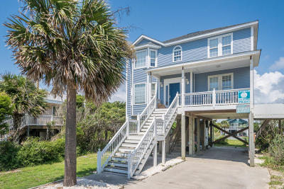 Oak Island Single Family Home For Sale: 618 E Beach Drive