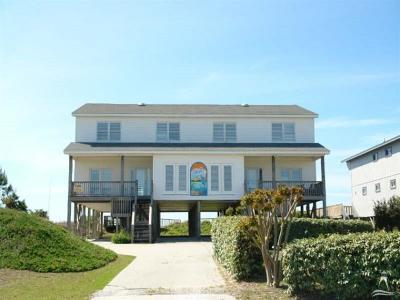 Holden Beach Single Family Home For Sale: 1227 Ocean Boulevard W