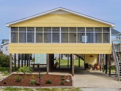 Topsail Beach Single Family Home For Sale: 1024 Ocean Boulevard