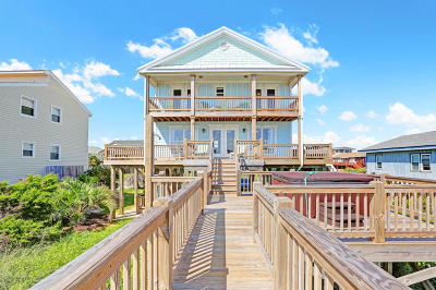 Oak Island Single Family Home Pending: 2319 W Beach Drive