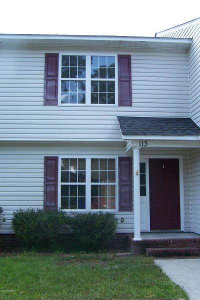 Sneads Ferry Condo/Townhouse For Sale: 113 Tillett Lane