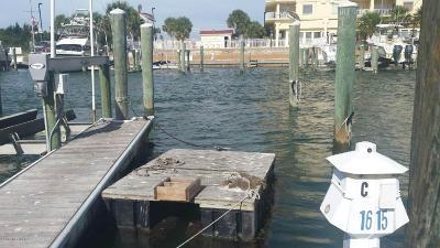 Beaufort Boat Slip For Sale: 100 Olde Towne Yacht Club Road #Slip C16