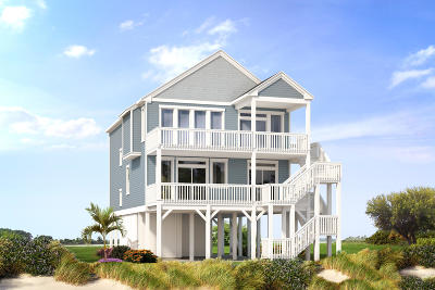 North Topsail Beach, Surf City, Topsail Beach Single Family Home For Sale: 450 C N Anderson Boulevard