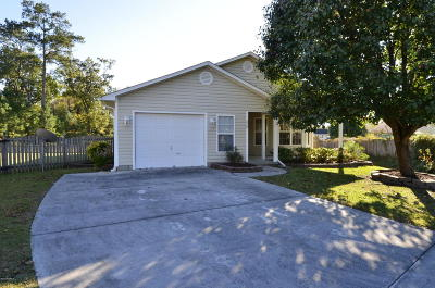 Onslow County Single Family Home For Sale: 308 Cornsilk Court