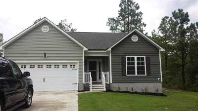 Holly Ridge, Sneads Ferry, Surf City, Topsail Beach Rental For Rent: 124 Dixon Road