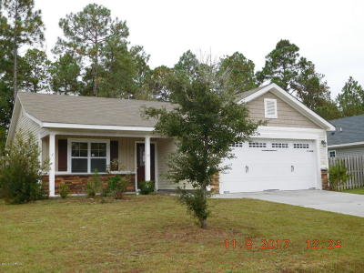 Sneads Ferry Single Family Home For Sale: 409 Blue Pennant Court