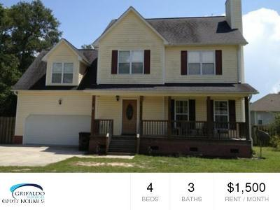 Sneads Ferry Rental For Rent: 144 Bayshore Drive
