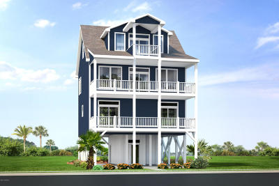 North Topsail Beach, Surf City (onslow) Single Family Home For Sale: 525 Ocean Drive