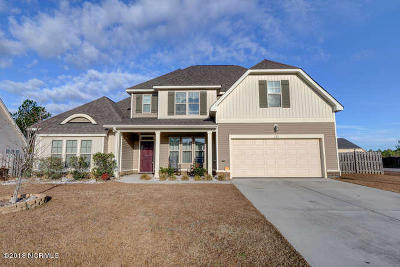 Holly Ridge Single Family Home For Sale: 121 Pamlico Drive