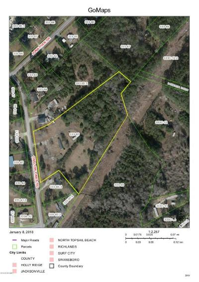 Jacksonville Residential Lots & Land For Sale: 1180 Onslow Pines Road