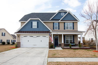 Onslow County Single Family Home For Sale: 134 Turquoise Drive