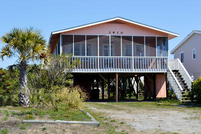 Oak Island Single Family Home Active Contingent: 3910 W Beach Drive