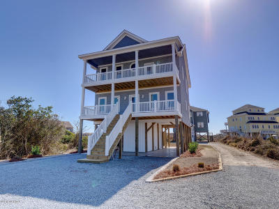 North Topsail Beach, Surf City, Topsail Beach Single Family Home For Sale: 882 New River Inlet Road