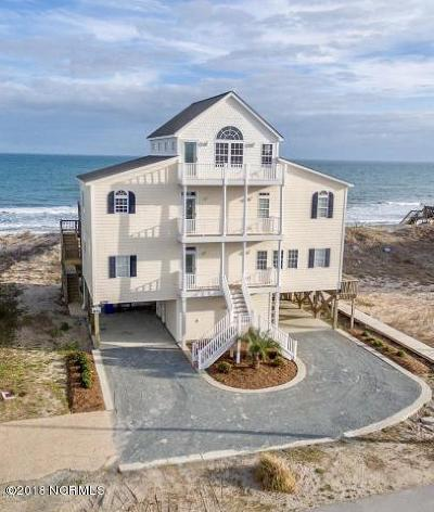 North Topsail Beach, Surf City, Topsail Beach Single Family Home For Sale: 406 New River Inlet Road