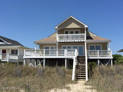 Holden Beach Single Family Home For Sale: 707 Ocean Boulevard W