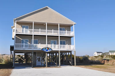 North Topsail Beach, Surf City, Topsail Beach Single Family Home For Sale: 1943 New River Inlet Road