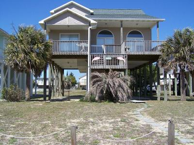 Oak Island Single Family Home For Sale: 2330 W Beach Drive