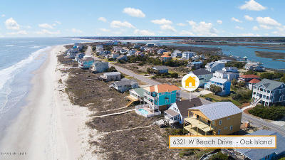 Oak Island Single Family Home For Sale: 6321 W Beach Drive