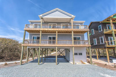 North Topsail Beach, Surf City, Topsail Beach Single Family Home For Sale: 448 N Anderson Boulevard