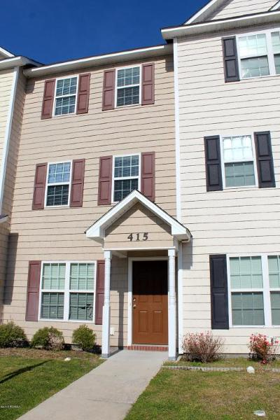 Onslow County Condo/Townhouse Active Contingent: 415 Caldwell Loop