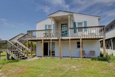 North Topsail Beach, Surf City, Topsail Beach Single Family Home For Sale: 802 N Anderson Boulevard