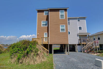 North Topsail Beach, Surf City, Topsail Beach Single Family Home For Sale: 1877 New River Inlet Road