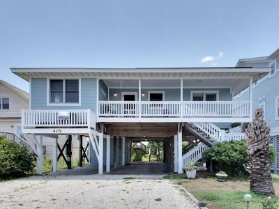 Holden Beach Single Family Home For Sale: 405 Ocean Boulevard W