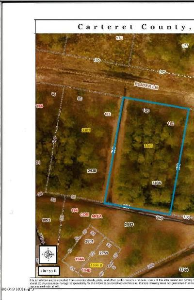 Morehead City Residential Lots & Land For Sale: 3308 Player Lane Lane