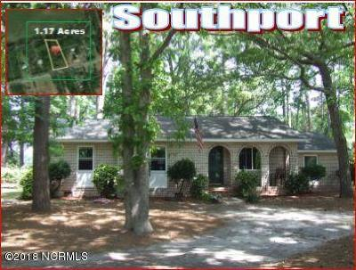 Southport Single Family Home For Sale: 6058 Bethel Road SE