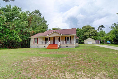 Sneads Ferry Single Family Home For Sale: 534 Turkey Point Road