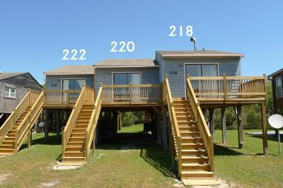 North Topsail Beach, Surf City, Topsail Beach Condo/Townhouse For Sale: 222 Sandpiper Drive