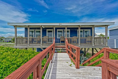 Oak Island Single Family Home For Sale: 6011 W Beach Drive
