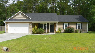 Onslow County Single Family Home Active Contingent: 219 Peters Lane