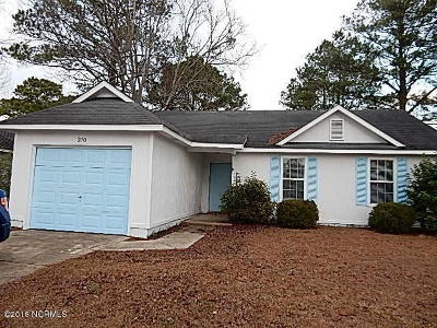 Onslow County Single Family Home Active Contingent: 210 Hearthstone Drive