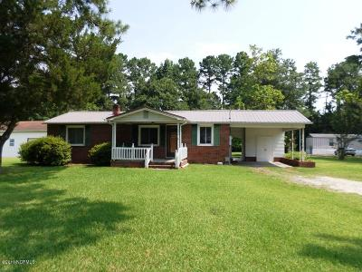 Onslow County Single Family Home For Sale: 1696 Catherine Lake Road