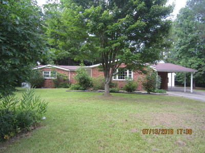 Jacksonville Single Family Home For Sale: 212 Waters Road