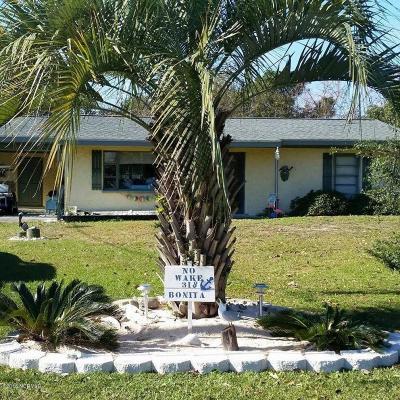 Cape Carteret NC Single Family Home For Sale: $159,900