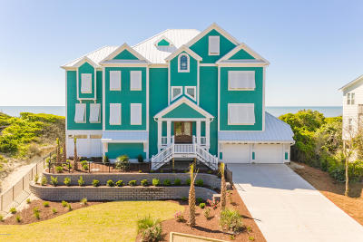 Emerald Isle Single Family Home For Sale: 7607 Ocean Drive