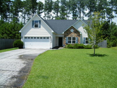 Onslow County Single Family Home For Sale: 2013 Wt Whitehead Drive