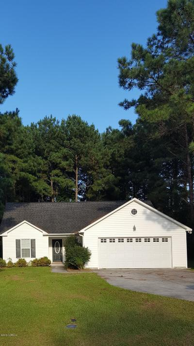 Sneads Ferry Single Family Home For Sale: 123 Charles Creek Road
