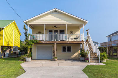 North Topsail Beach, Surf City, Topsail Beach Single Family Home For Sale: 1206 N New River Drive