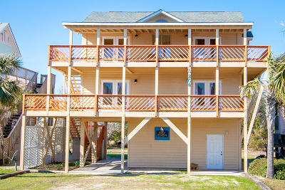 North Topsail Beach, Surf City, Topsail Beach Single Family Home For Sale: 206 S Anderson Boulevard