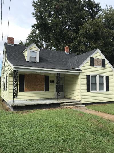 Greenville NC Single Family Home For Sale: $44,900
