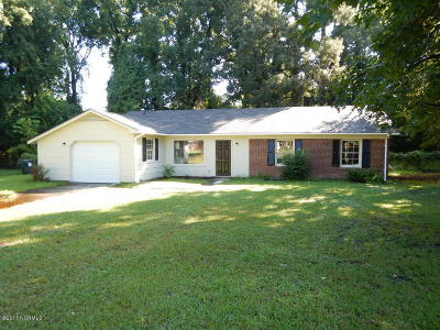 New Bern NC Single Family Home For Sale: $129,900